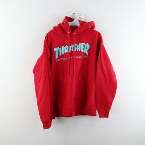 Vintage Thrasher Skateboard Magazine Hoodie Red
